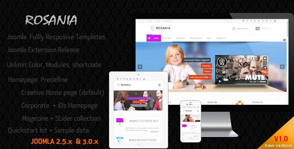 ThemeForest Rosania Multipurpose Joomla Responsive Templates 7486147