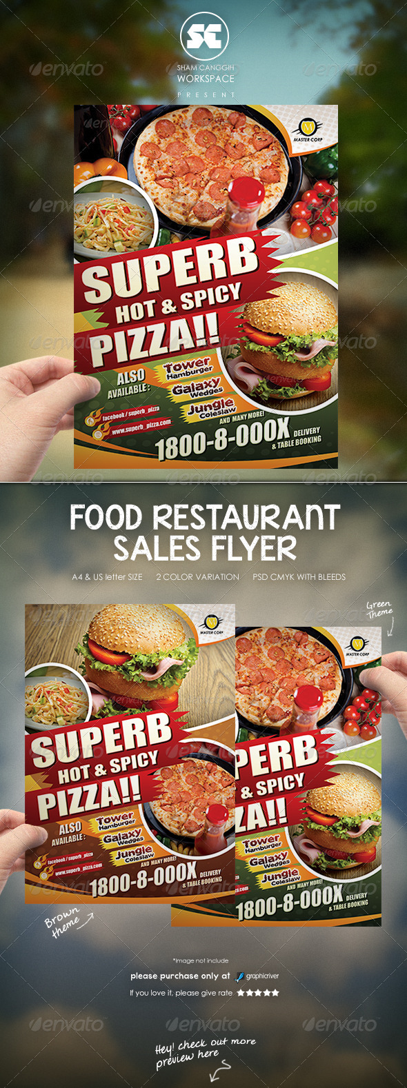 GraphicRiver Restaurant Food Flyer 7526847