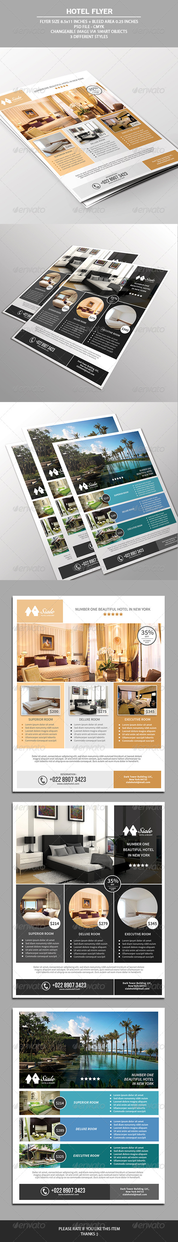 GraphicRiver Hotel Flyer Template 7528621