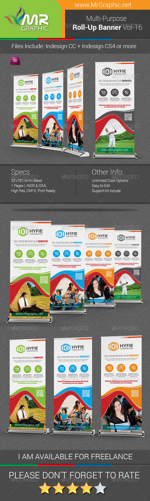 GraphicRiver Multipurpose Business Roll-Up Banner Vol-16 7528795