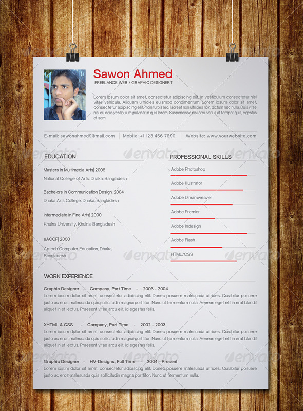 GraphicRiver Clean Resume 7530258