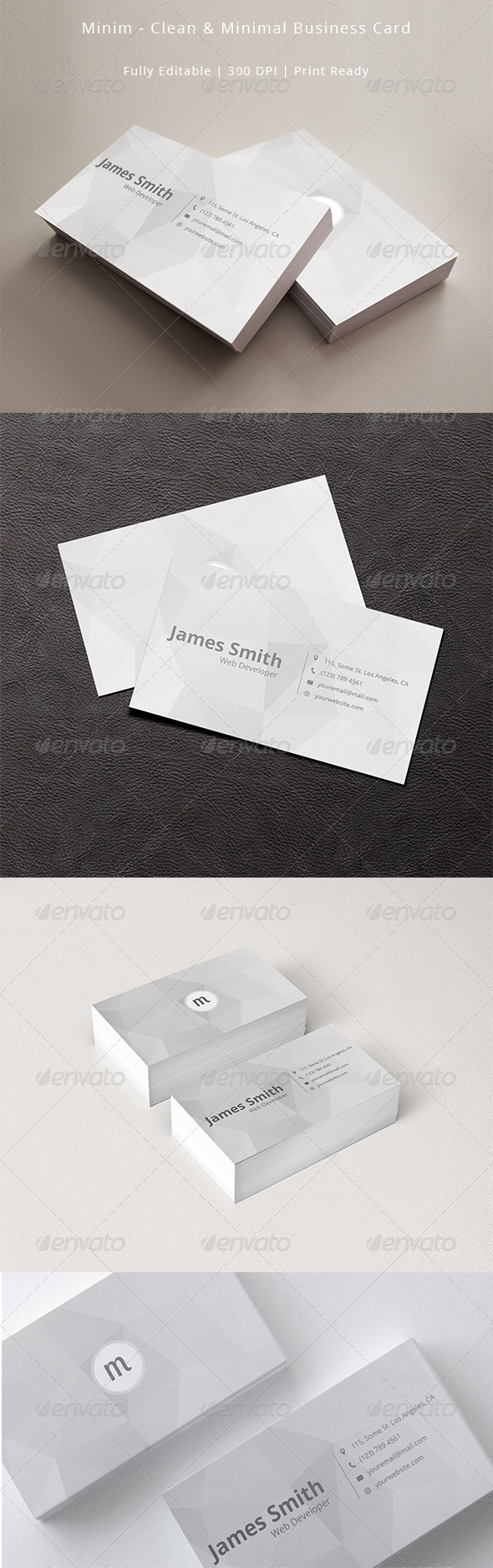 GraphicRiver Minim Clean and Minimal Business Card Template 7530416