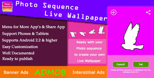 CodeCanyon Photo Sequence Live Wallpaper with AdMob 7530496