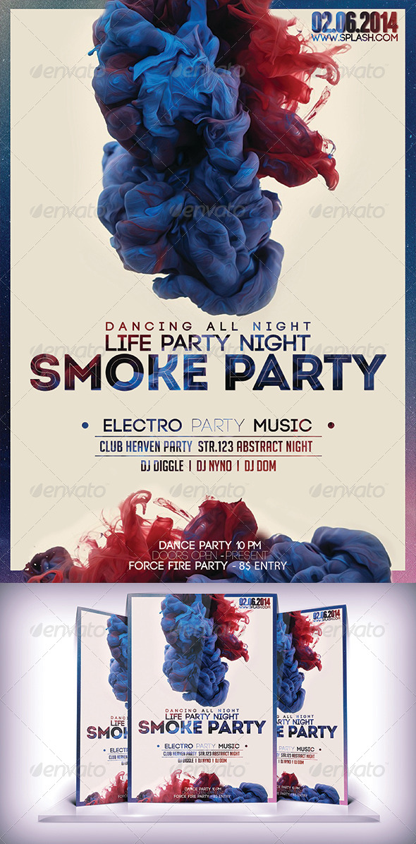 GraphicRiver Smoke Party Fyer 7530562