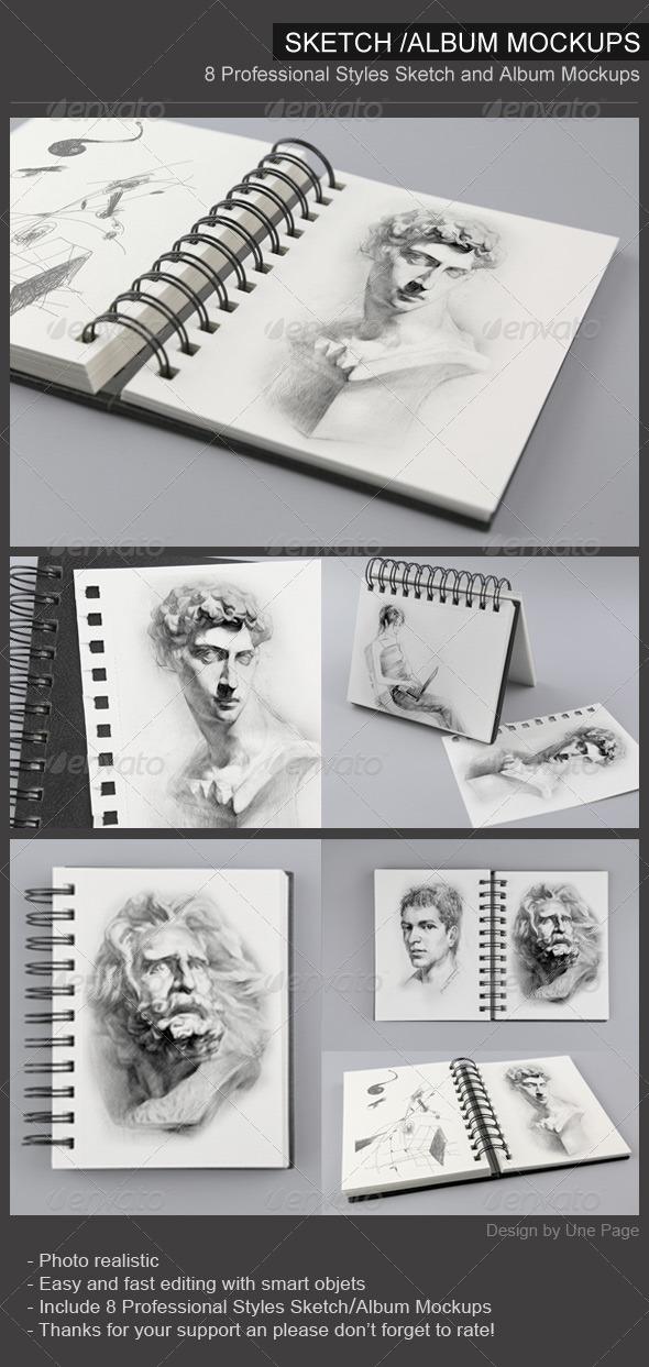 GraphicRiver Sketch Book Mockups 7530794