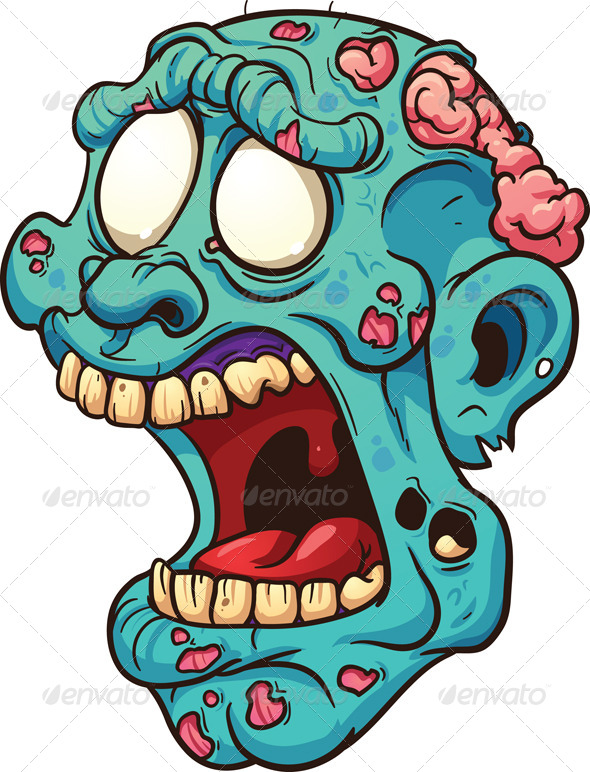 GraphicRiver Zombie Head 7532187
