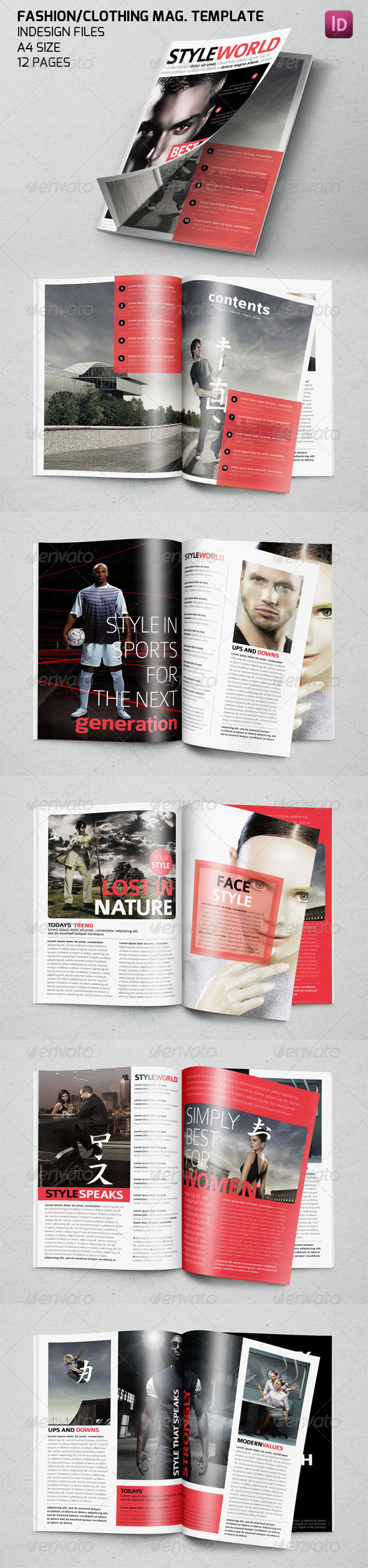 GraphicRiver Clothing Fashion Style Magazine Template 7533124
