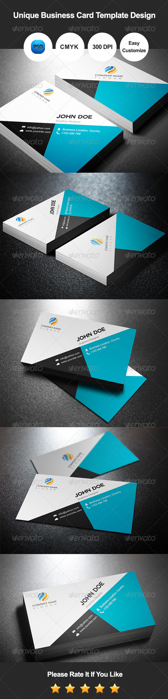GraphicRiver Unique Business Card Template Design 7534745