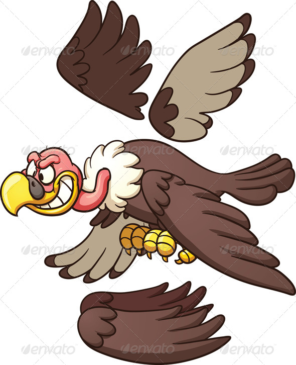 GraphicRiver Cartoon Vulture 7535196