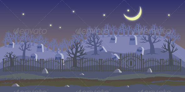 GraphicRiver Cemetery Background 7535218