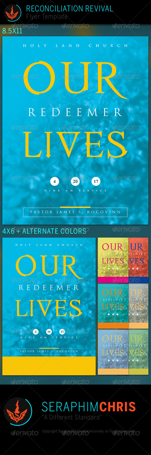 GraphicRiver Our Redeemer Lives Church Flyer Template 7535427