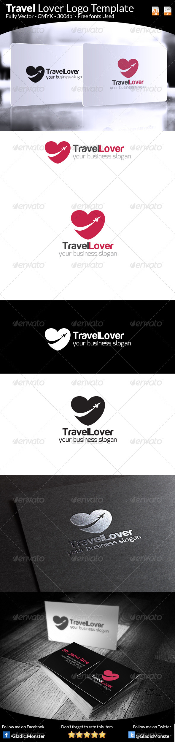 GraphicRiver Travel Lover Logo 7535439