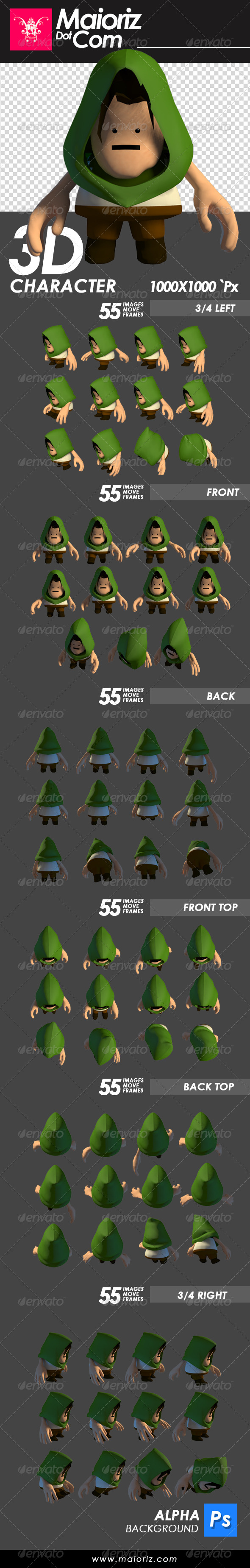 GraphicRiver Adventure 3D Character 7535651
