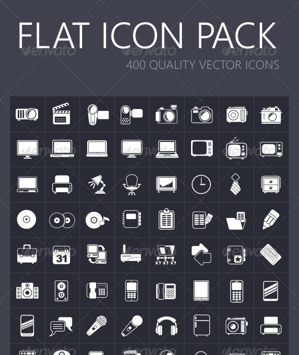 GraphicRiver Flat Icon Pack 7536558
