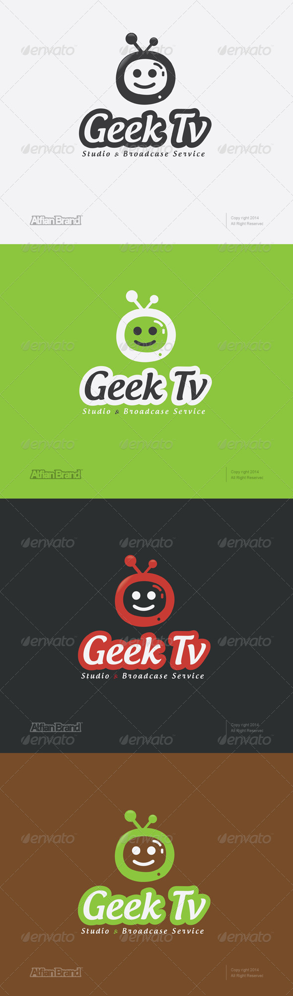 GraphicRiver Geek Tv Logo 7536676