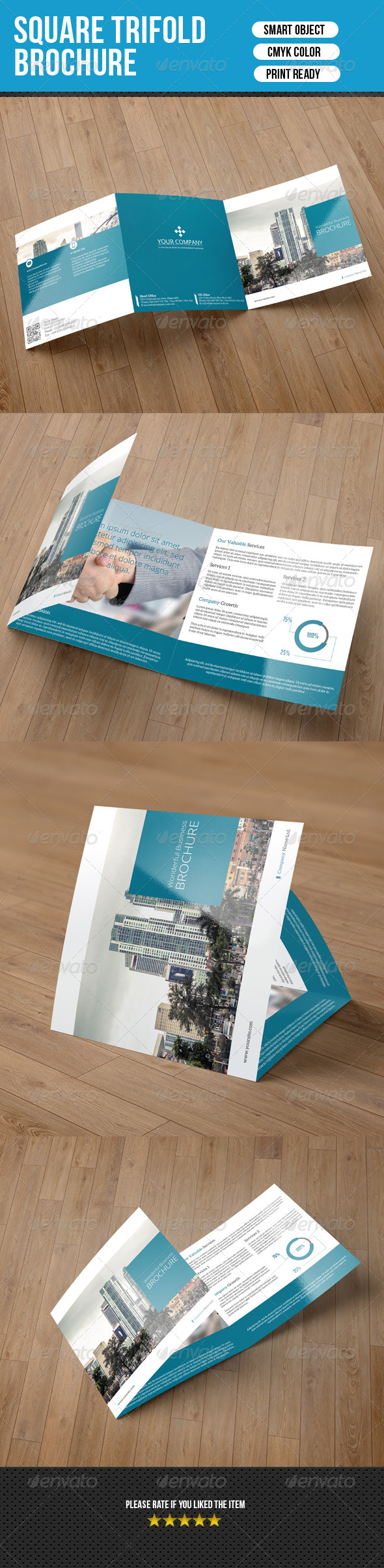 GraphicRiver Square Trifold Brochure-Business 7538822
