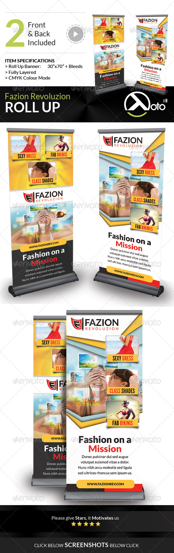 GraphicRiver Fashion Revolution Sale Roll Up 7541318