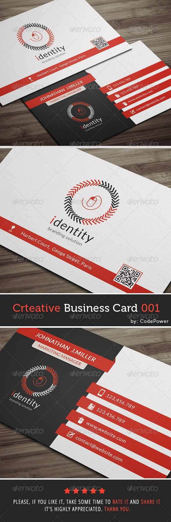 GraphicRiver Creative Business Card 001 7542601