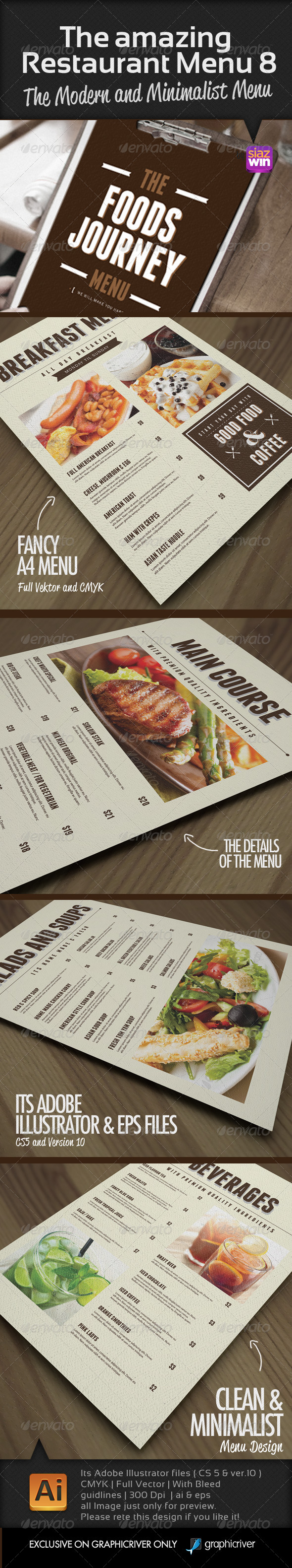 GraphicRiver The Amazing Restaurant Menu 8 7542678