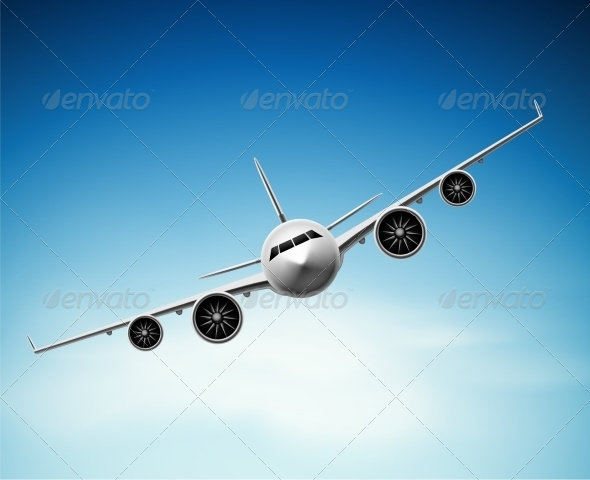 GraphicRiver Passenger Airplane 7543402