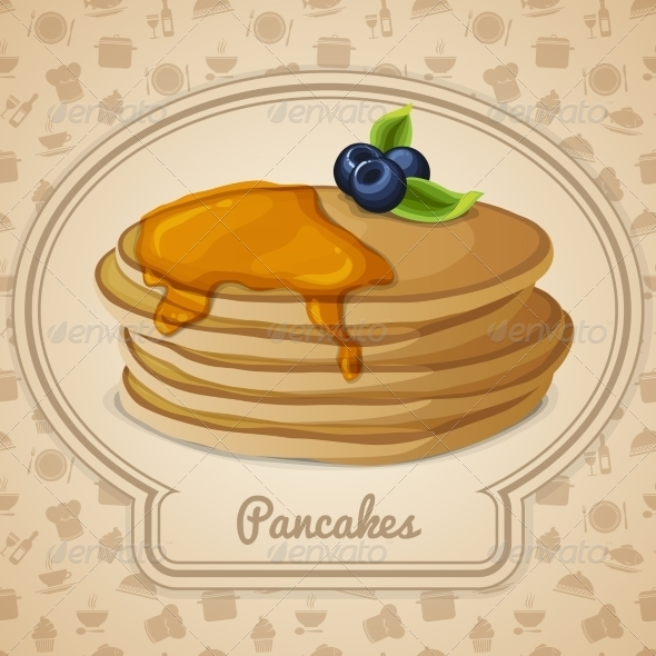 GraphicRiver Pancakes with Syrup 7545176