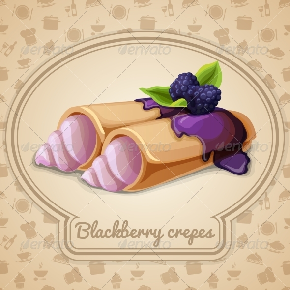 GraphicRiver Blackberry Crepes 7545254