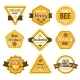 Honey Labels Set - GraphicRiver Item for Sale