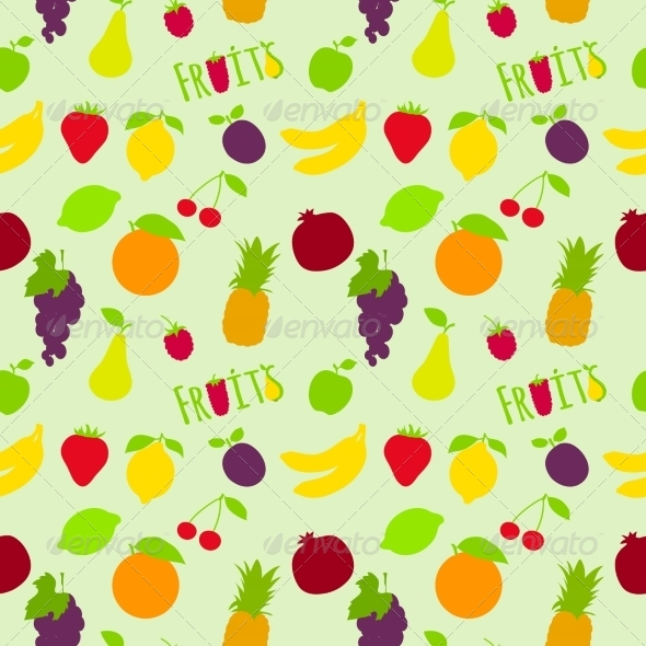 GraphicRiver Fruits Pattern 7545424