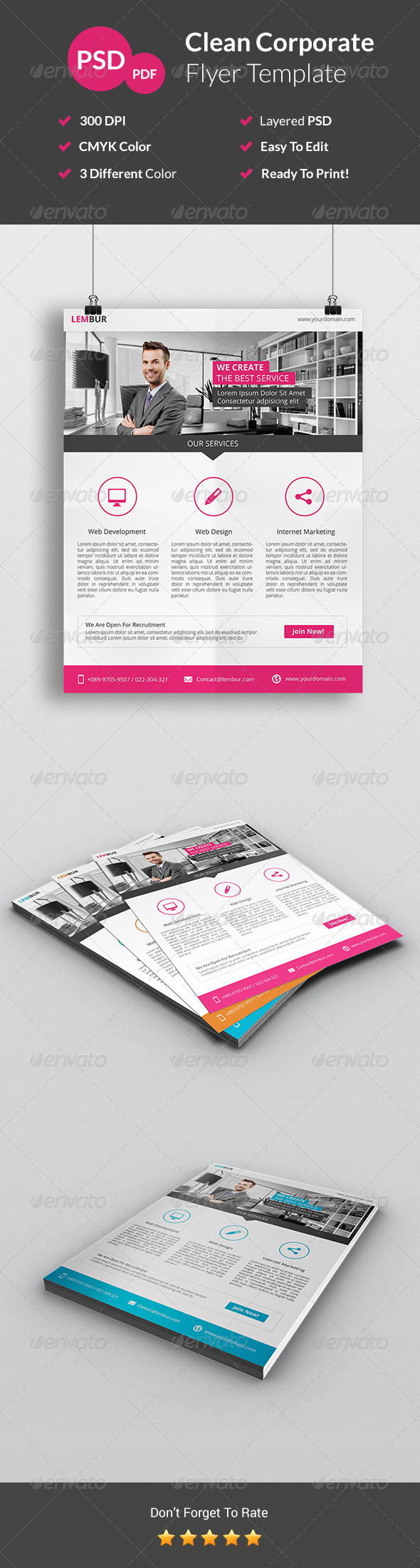 GraphicRiver Clean Corporate Flyer 7546094