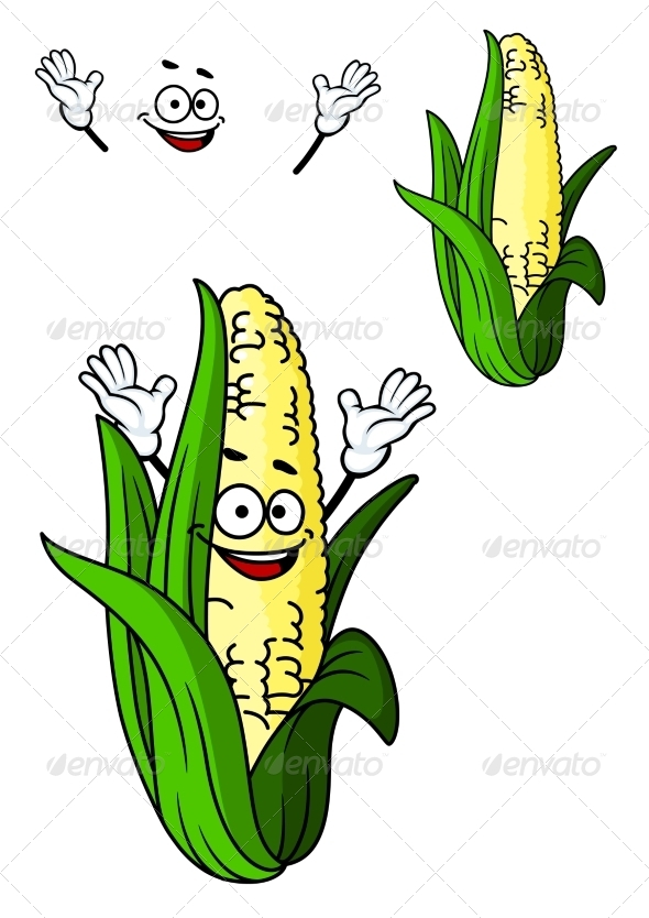 GraphicRiver Corn Cartoon 7546727