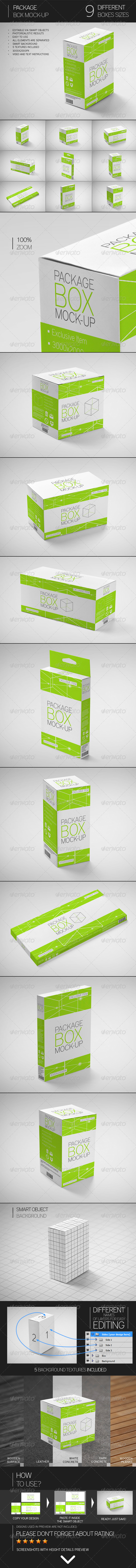 GraphicRiver Package Box Mock-Up 7546731