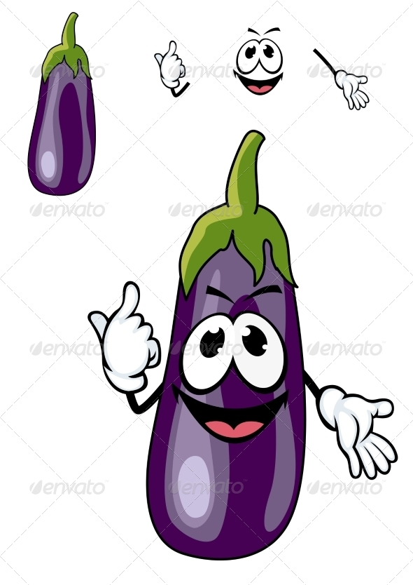 GraphicRiver Eggplant Cartoon 7546740