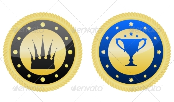 GraphicRiver Golden Badges 7546752