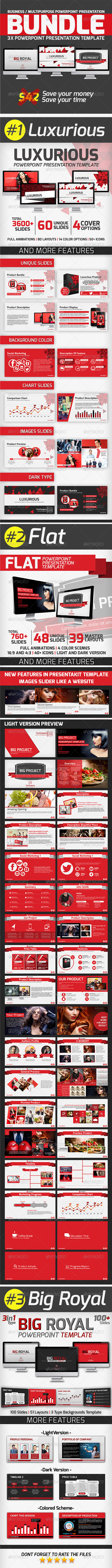 GraphicRiver Powerpoint Presentation Bundle 7546773