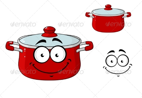 GraphicRiver Saucepan Cartoon 7546811