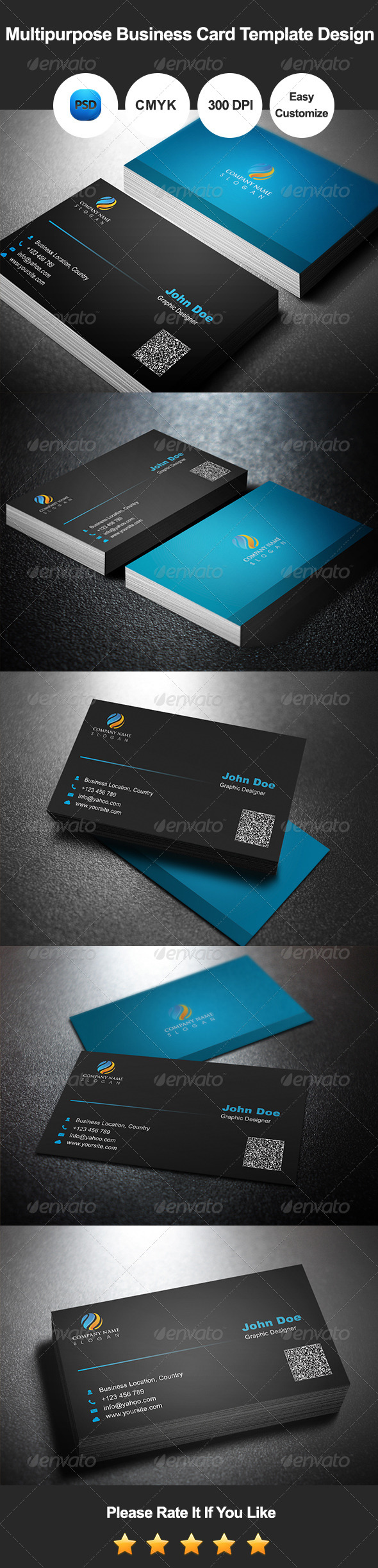 GraphicRiver Multipurpose Business Card Template Design 7546824