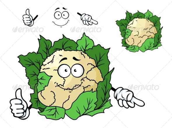GraphicRiver Cauliflower Cartoon 7546885