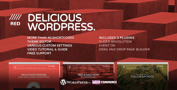 ThemeForest RED for Designer Photographer Musician Corp 7257993
