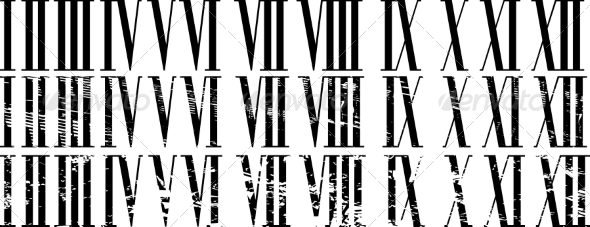 GraphicRiver Roman Numerals 7547723
