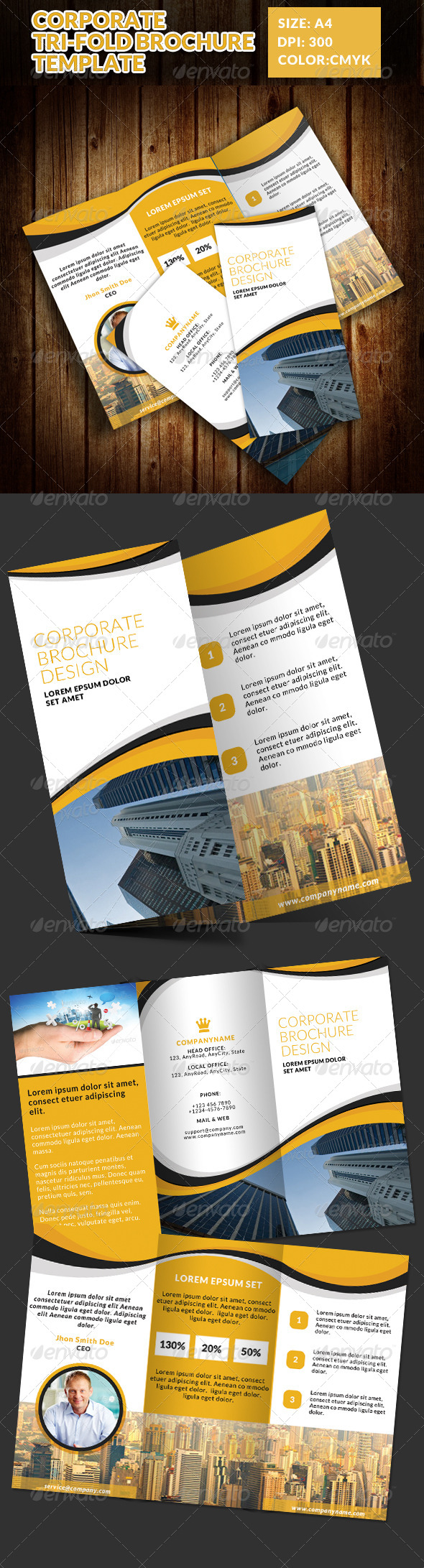 GraphicRiver Corporate Tri-Fold Brochures Template 3 7547886