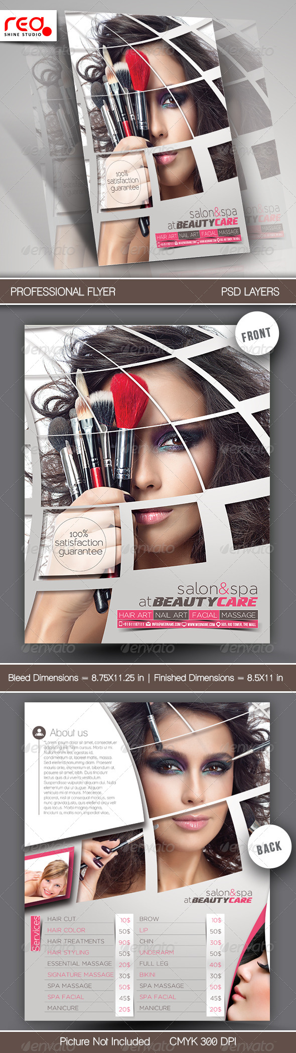 GraphicRiver Beauty Care & Salon Flyer Template 7547963