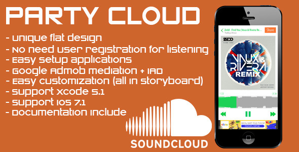 CodeCanyon PartyCloud flat player for Soundcloud 7547970