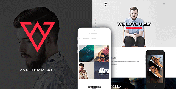 ThemeForest Viska Creative One Page PSD Template 7548180
