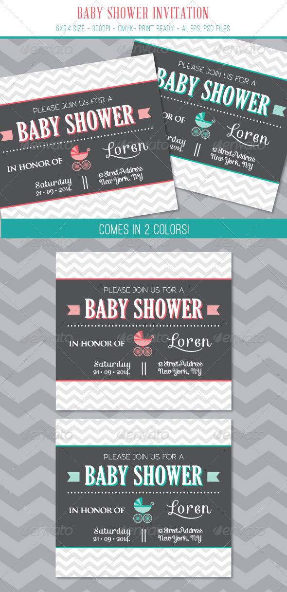 GraphicRiver Baby Shower Invitation Card 7541488