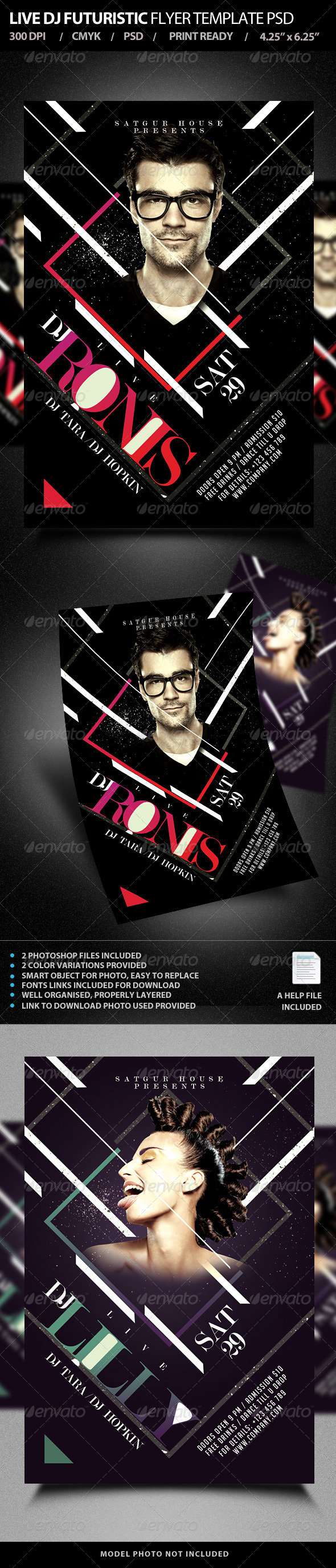 GraphicRiver Live DJ Flyer Template PSD V2 7548399