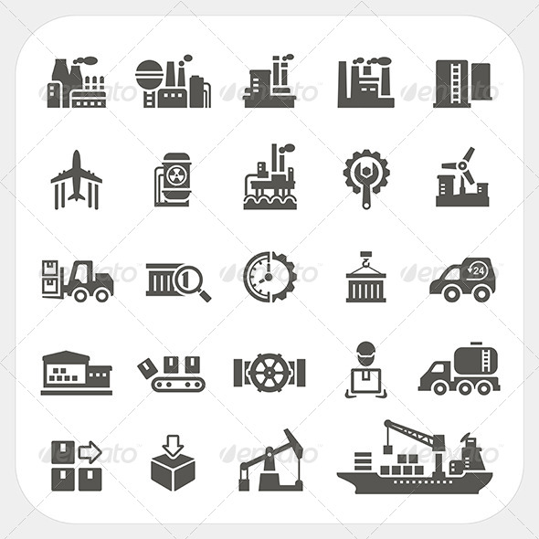 GraphicRiver Industry Icons Set 7548407