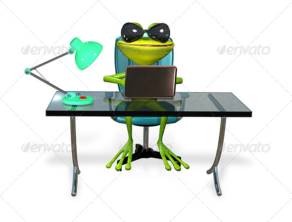 GraphicRiver Frog at the Table 7548455