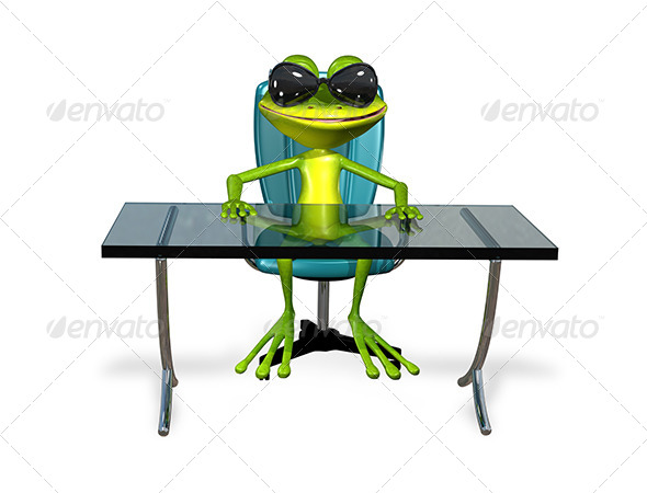 GraphicRiver Frog at the Table 7548516