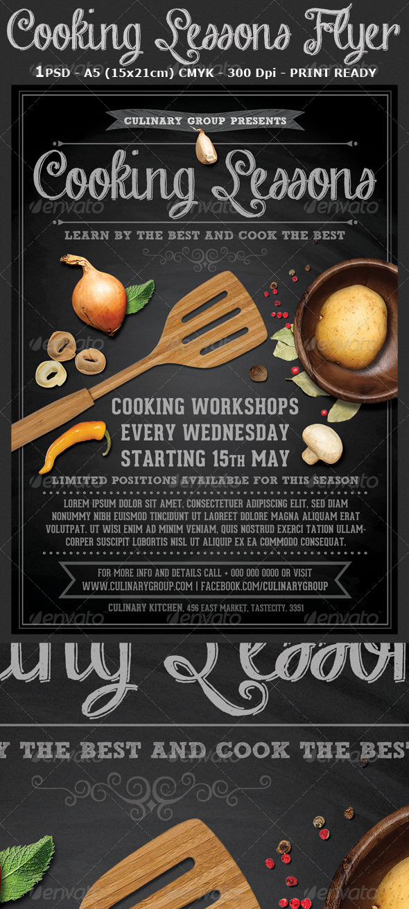 GraphicRiver Cooking Lessons Flyer Template v2 7548525