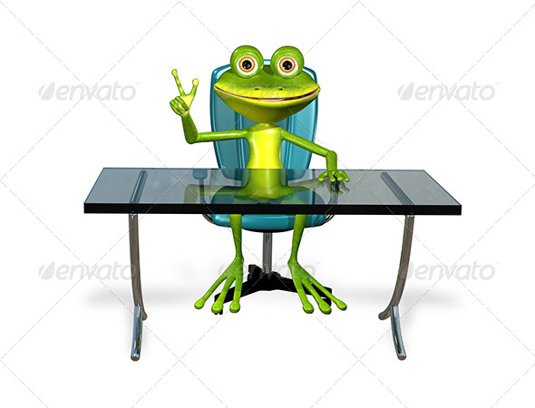 GraphicRiver Frog at the Table 7548526